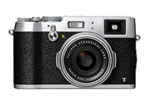 Fuji FinePix X100T Camera Silver 16.3MP 3.0LCD FHD 23mm Wide Lens WiFi