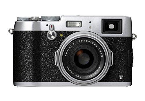 Fujifilm X100T Fotocamera Digitale 16 MP, Sensore APS-C X-Trans CMOS II, Obiettivo 23mm, f/2.0, Mirino Ibrido, Telemetro Elettronico, Otturatore Centrale, Argento