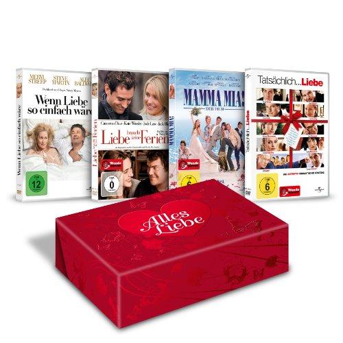 Alles Liebe (Tatsächlich Liebe, Liebe braucht keine Ferien, Wenn Liebe so einfach wäre, Mamma Mia) [Limited Edition] [4 DVDs]