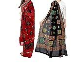 #8: Women'S Cotton Embroidery & Mirror Work Dupatta Multi Color Stoles & Dupattas Set Of 2