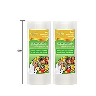 ATWFS Food Storage Saver Vacuum Packaging Bags - 12cm x 500cm/4.7
