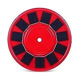 Masterein Solar Flag Pole Light 24 LED Strahler Beleuchtung Effiziente Außenleuchten Mehrzwecknachtlichter mit 11 Sonnenkollektoren Rot