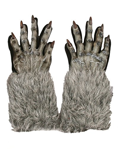 Horror-Shop Graue Werwolf Handschuhe