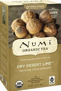 Numi Tea Dry Desert Lime, Herbal Teasan, 18 Count Tea Bags (Pack of 3)