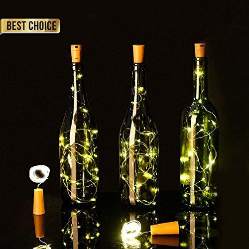 Led Flaschenlicht, Lichterketten Netz Flaschenlicht Korken Flaschenlichter Bunt Batteriebetrieben FüR Diy Party, Weihnachten, Halloween Garten, Schlafzimmer, Hochzeit, Beleuchtung Deko (2 Pack)