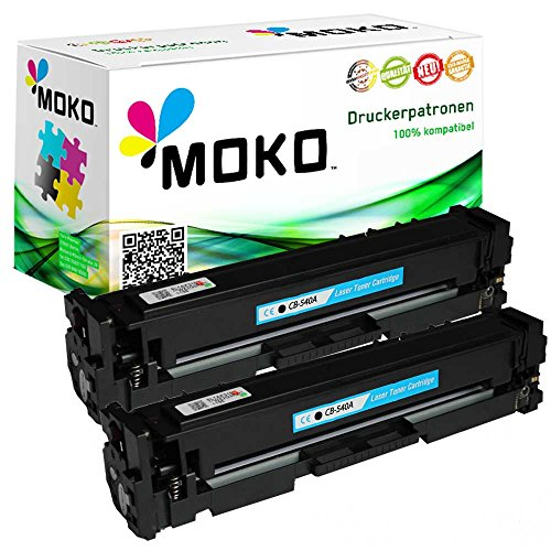 Preisvergleich Produktbild 2 Toner-Kartuschen kompatibel zu HP CB540A 125A: HP Color LaserJet CP 1200 Series: CP 1210 / CP 1213 / CP 1214 / CP 1214 N / CP 1215 / CP 1216 / CP 1217