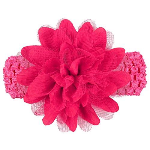 haarschmuck,bobo4818 Babys Blume  Stirnband Lace Bow Haarband Blume Headclip (Hot Pink) Vintage Baby Bow