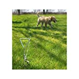 Dog Yard Tie Out Not Just for Dogs but Cats and Any Other Pet That Need Exercise and Fresh Air. This 14 Rust-proof Spiral Yard Stake Will Allow Your Pet to Enjoy the Outdoors and Play on the Lawn and in the Yard When You Don't Have a Fence At Home. by Duke's Pet Products