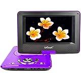 ieGeek Lettore DVD Portatile Display 12.5 Pollici regolabile, 5 ore Batteria ricaricabile, supporto schedeSD e pennette USB, avvio diretto di MP4/AVI/RMVB/MP3/JPEG, Viola - ieGeek - amazon.it