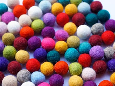 Mix Miracle 100% Wool felt balls in