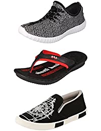 Maddy Perfect Combo Of Sport Shoes, Sneaker & Sandal For Men Pack Of 3 In Various Sizes - B0727RR48C
