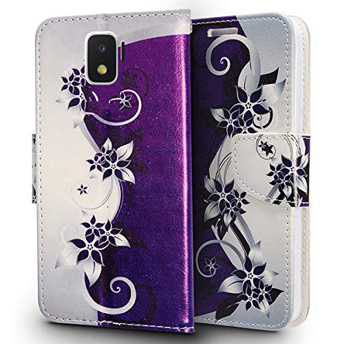 Samsung Galaxy ON5 G550 Fall (Metro Pcs, T-Mobile), luckiefind® Design PU Leder Flip Wallet Kreditkarte Fall & Eingabestift Accessory, Wallet Butterfly (Phones Samsung T-mobile Cell)