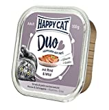 Happy Cat - Duo Menu Rind & Wild - 12x 100 g