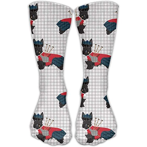 Roue Scottie Dog With Bagpipes Unisex 30CM Leisure Comfortable Sports Socks
