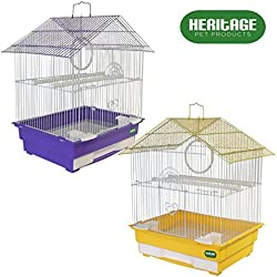 Heritage Jaulas 3101Albany Jaula de Pájaros Budgie Canario Pájaros 34x 28x 49cm Pet Home