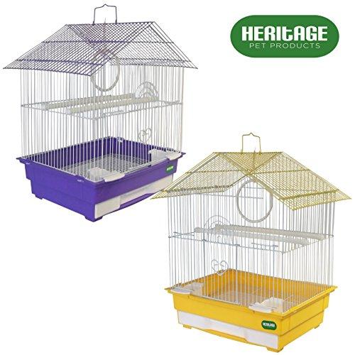 Heritage Cages 3101 Albany Vogelkäfig, für Wellensittiche / Finken / Kanarienvögel, klein, 34 x 28 x 49cm