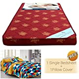 #8: Story @ Home Floral Pattern Foam Material Single Size Mattress (72