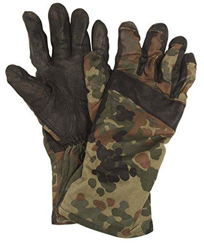BW Handschuhe Leder flecktarn Sommer