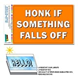 Hupen Wenn etwas fällt Off–Funny Alten KFZ Automarke Slap-Stickz Aufkleber Automotive Auto Fenster Spind Bumper Kofferraum Aufkleber