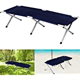 Inditradition Portable Folding Camping/Picnic Recliner, Cot - (74 x 24 x 17 Inches), Aluminium Frame