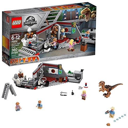 LEGO Jurassic World Caza del Velociraptor en Parque...