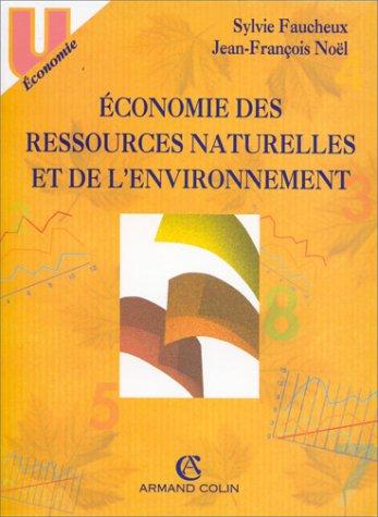 Économie des ressources naturelles et de l'environnement