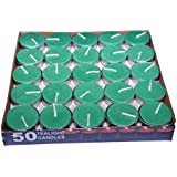 Paras Wax Tealight Candles Set Of 50 Pieces Unscented For Diwali Decorations |Smokeless |Birthday Party