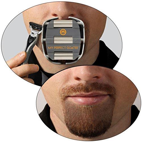 Kleiner Mann-schablonen (Bartschneider Rasierschablone für den perfekten Kinnbart - Barttrimmer Schablone - Rasurvorlage Ziegenbart – Goateesaver)