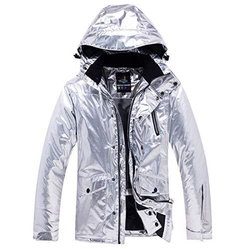 Yajiemei giacca da sci per adulti mountain ski windproof suit da sci per l'escursionismo snowboard (color : silver, size : s)