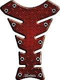 Protège Réservoir Moto 3D Tole Racing Rouge KT8350R Keiti® Résine inaltérable...