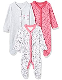 Mothercare Girls' Sleepsuit (Pack of 3)