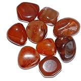 Carneol Achat Trommelsteine 100 Gramm - 5-8 Steine, schöne kleine Handschmeichler (2048)