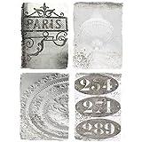 Grafelstein 4tlg. Bild Pariser APPARTMENT grau beige Shabby chic 4 Einzelne Leinwanddrucke