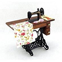Melody Jane Dolls Houses Miniatura Para Casa De Muñecas Modistas Accesorio Antiguo Pedal Máquina ...