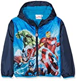 Marvel Avengers Street Landscape Cappotto, Blu (Navy 19-4024TC), 3-4 Anni Bambino