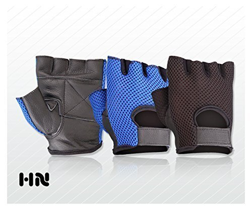 unisex-leather-gloves-padded-palm-gym-cycling-cycle-bike-training-fitness-sports-multi-purpose-blue-