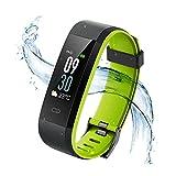 Vigorun Fitness Armband, Farbdisplay Fitness Tracker,Aktivitätstracker mit Pulsmesser,IP68 Wasserdichtes Schrittzähler mit Alarm/Kalorien / Schlafüberwachung, für Android und iOS (Schwarz + Grün)