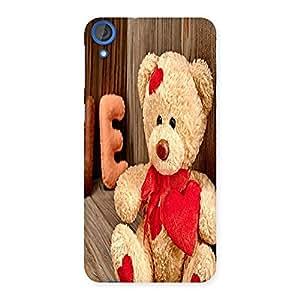 Ajay Enterprises Pro Wood Teddy Back Case Cover for HTC Desire 820
