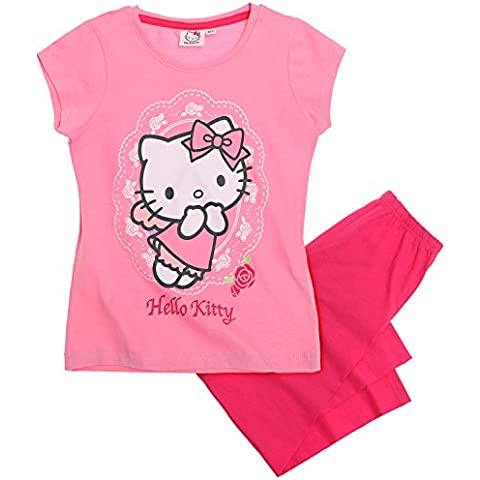 Hello Kitty Chicas Pijama mangas cortas 2016 Collection - fucsia