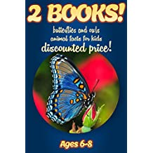 2 Bundled Books: Facts About Butterflies & Owls For Kids Ages 6-8: Amazing Animal Facts And Pictures: Clouducated Blue Series Nonfiction For Kids (English Edition)