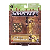 Minecraft 16488 - Figura de acción de 7,62 cm - Steve in Gold Armour Pack