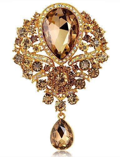 lusso della moda di cristallo gioiello di strass goccia d'acqua delle donne badge partito perni fiore / spilla nozze 1 pezzo , white-one size , white-one size