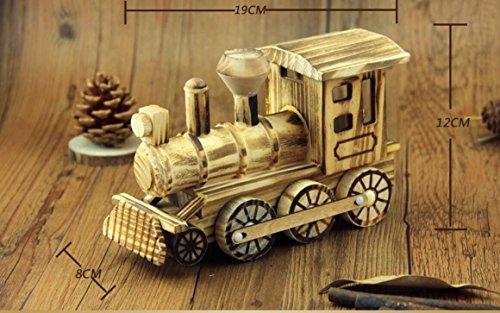 Arulinmz Dekoration Holz Simulation Lokomotive Handwerk Dekoration Kreative Kinder Zug Spielzeug