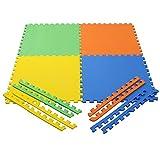 Pablo Honey - EVA Kid's Interlocking Play Mat - 10 mm Thickness - Set of 4 Tiles - 60 cm x 60 cm each Tile