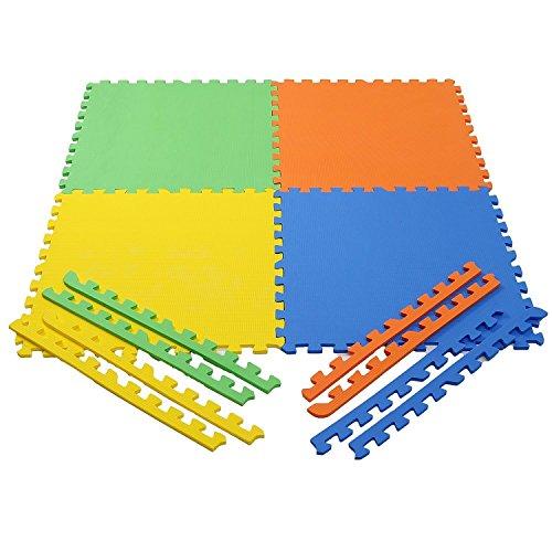 Ehomekart Pablo Honey Eva Kids Interlocking Play Mat -10 Mm Thickness, Multicolor (Set of 4)