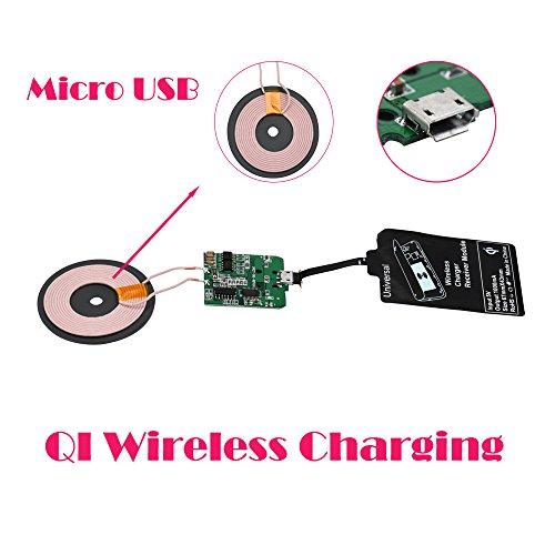 Empfänger sunnymi Qi Wireless Ladegerät PCBA Platine + Universal Qi Wireless Ladegerät Empfänger (Schwarz, Micro USB)