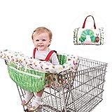 Baby 2-in-1-Warenkorb Bezug Kissen, verstellbare Baby Supermarkt Einkaufskorb Sitzbezüge, Hochstuhl Bezug Matte mit Sicherheitsgurt für Baby Kinder Kinder