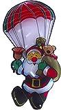 Ventana Diseño Papá Noel AM silueta de paracaídas con 20Mini luces para interiores Decoración navideña