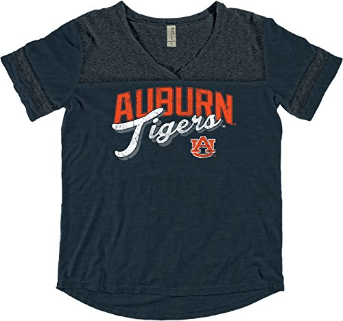 Zeigen Juniors T-shirt (Blue 84 NCAA Damen gefärbt Varsity Tee, Damen, NCAA Women's Dyed Varsity Tee, Indigo, Large)