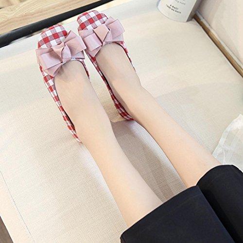 hunpta Chaussures de Ville à Lacets Pour Femme Rose